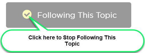 stop following this topic