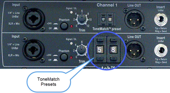 Model I ToneMatch Presets